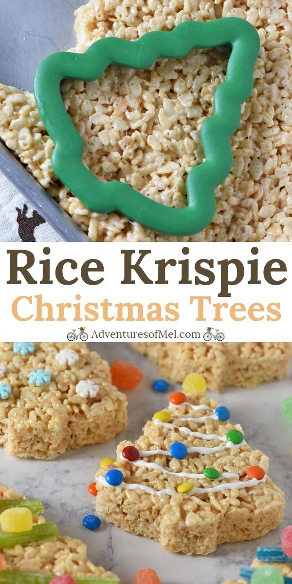 Fun and simple holiday recipe for kids! How to make Christmas tree Rice Krispie ... - Rice Recipes #ricekrispiestreats