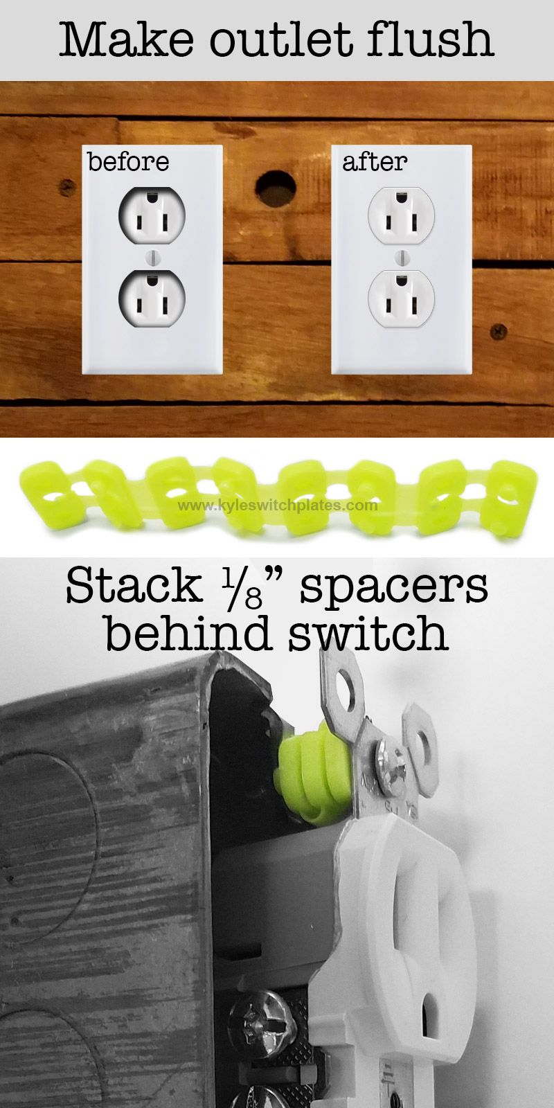 - Quick Fix Spacers - Adjust Switches & Outlets In Electrical Boxes