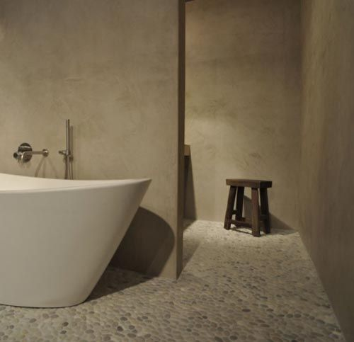 Matte betonstuc in badkamer | Interieur inrichting | Badkamer ...