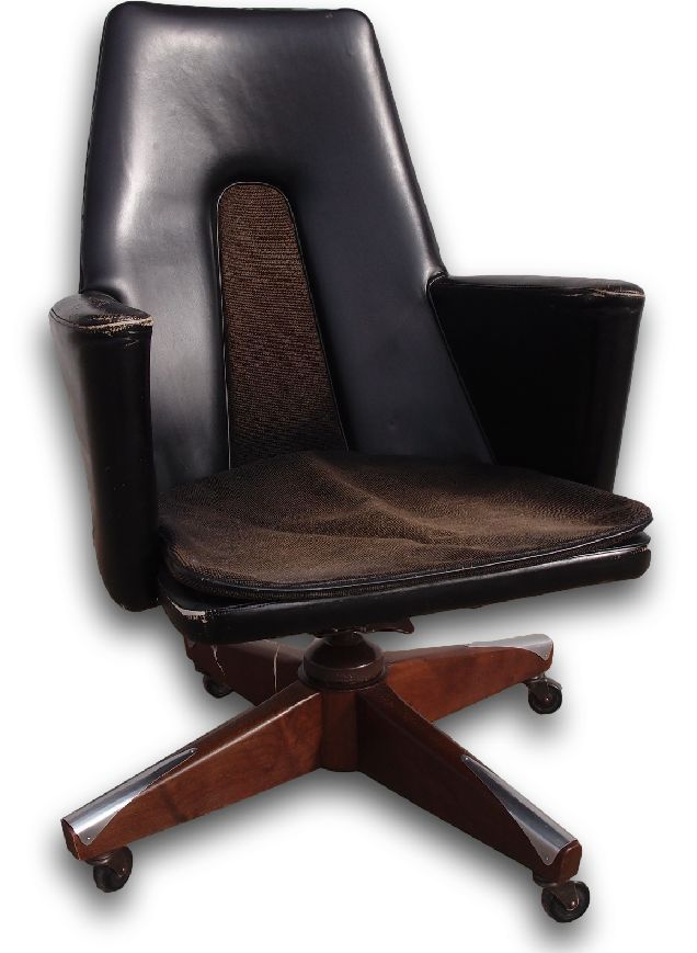 High Backed Mid Century Modern Executive Office Chair By Boling