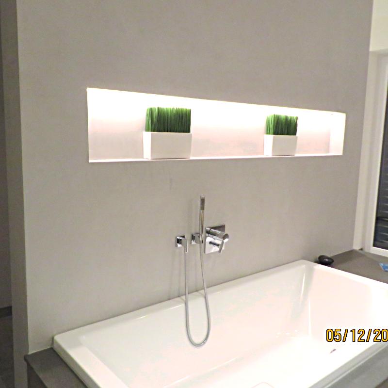 Badezimmer Wand aus Beton gespachtelt by fugenlos-modern.de ...