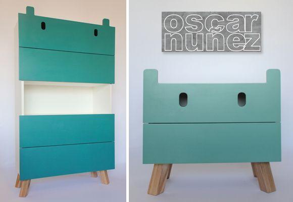 Kinderkamer Kasten Mostros : Mostros kids furniture by oscar nuñez kids stuff