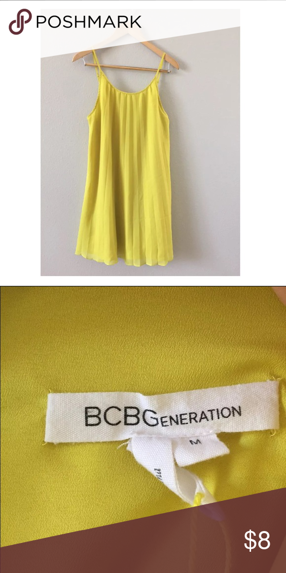 Bcbg dress Yellow bcbg dress BCBGeneration Dresses Midi