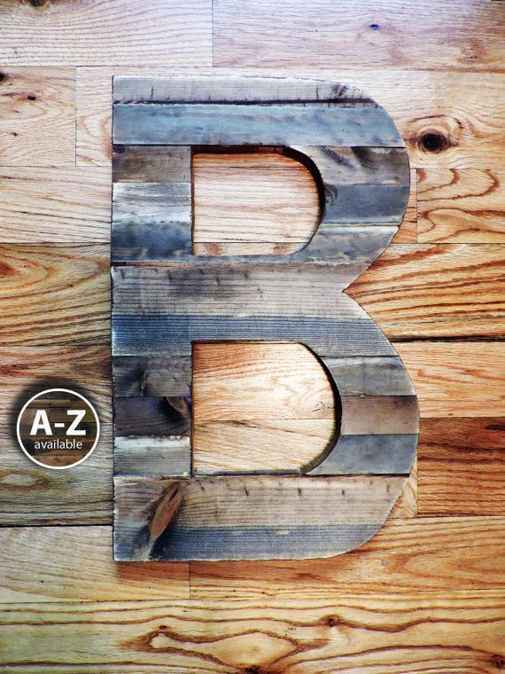 Letter B Rustic Letter B Cut Out Large Letter Wooden B Wall