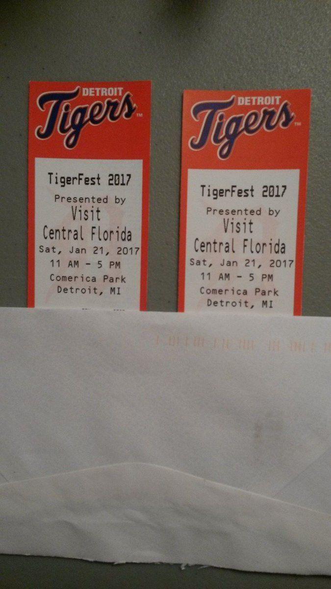 Detroit Tigers Tigerfest Tickets (2) Adult Jan 21 2017 Cabrera Verlander Fulmer  http://dlvr.it/N27b34pic.twitter.com/bA9HvuIkil