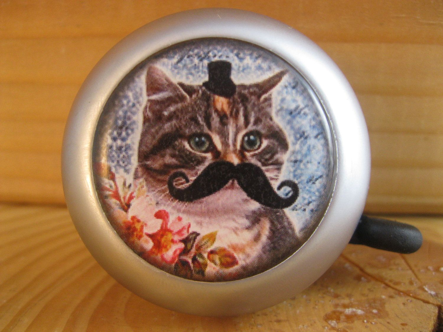 Cool Cat Supplies Bike Accessories Bicycle Bell Cat With Mustache By