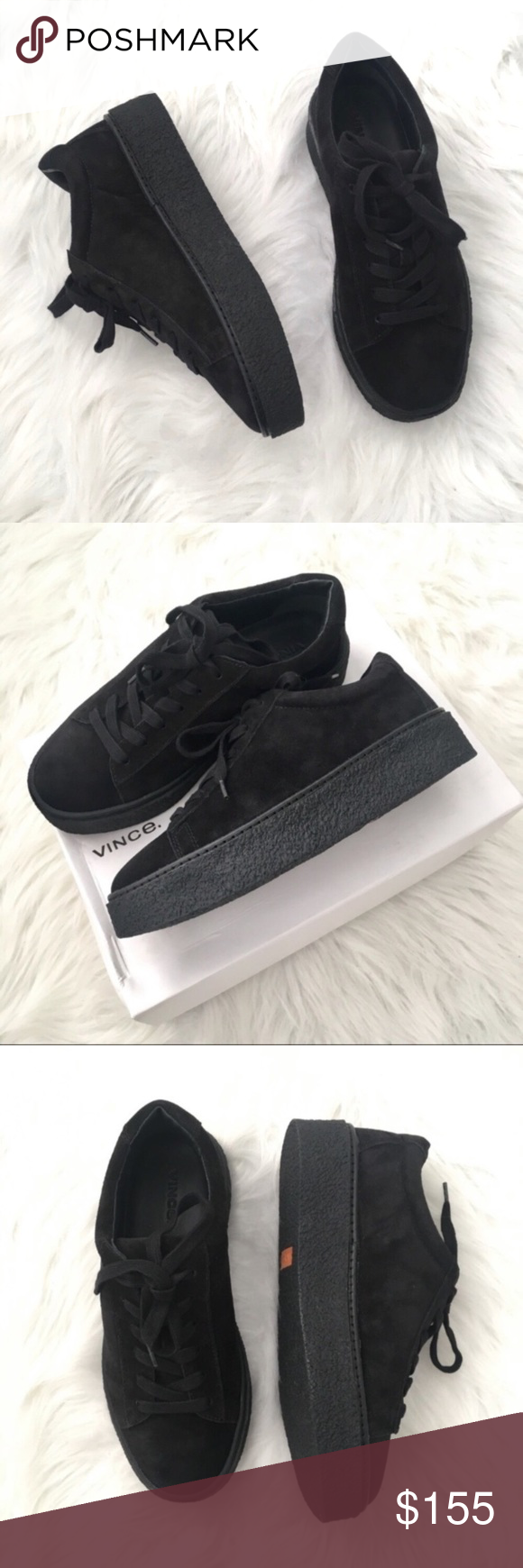289d35a961b NIB VINCE Neela black suede platform sneakers NIB Vince black suede Neela  platform sneakers