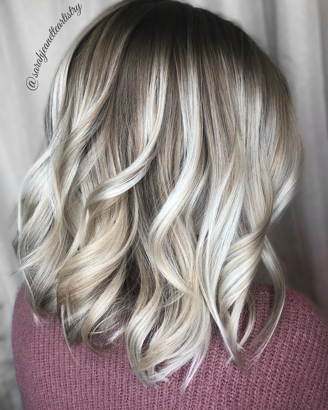 Everything Balayage On Instagram Buttercream Blonde By
