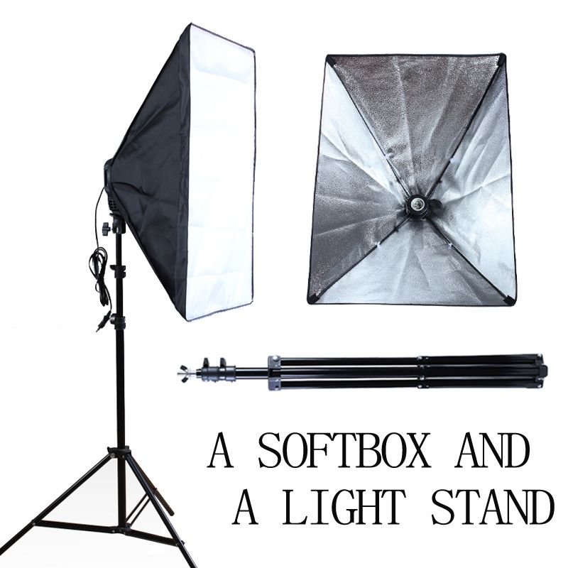 Camera & Photo Russia Free Shipping Photo Studio Equipment Led Photography Lighting Kit Softbox Umbrella Kit And Backdrop With Background Stand Photo Studio Accessories
