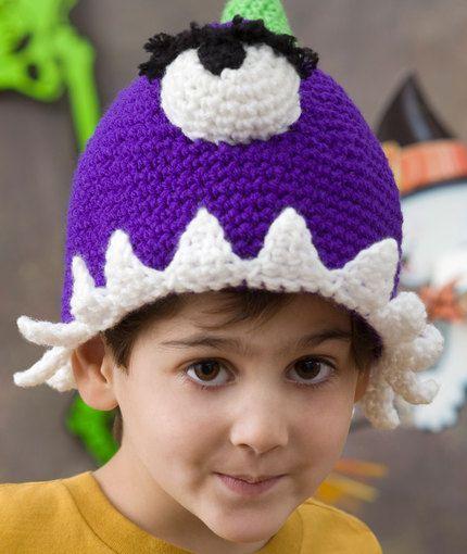 Purple People Eater Hat Crochet Pattern | Red Heart | Projects to ...