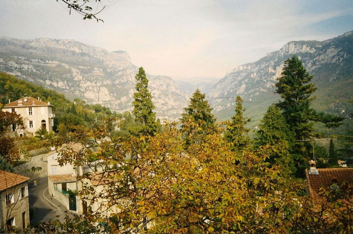 view from Bar-sur-Loup - France