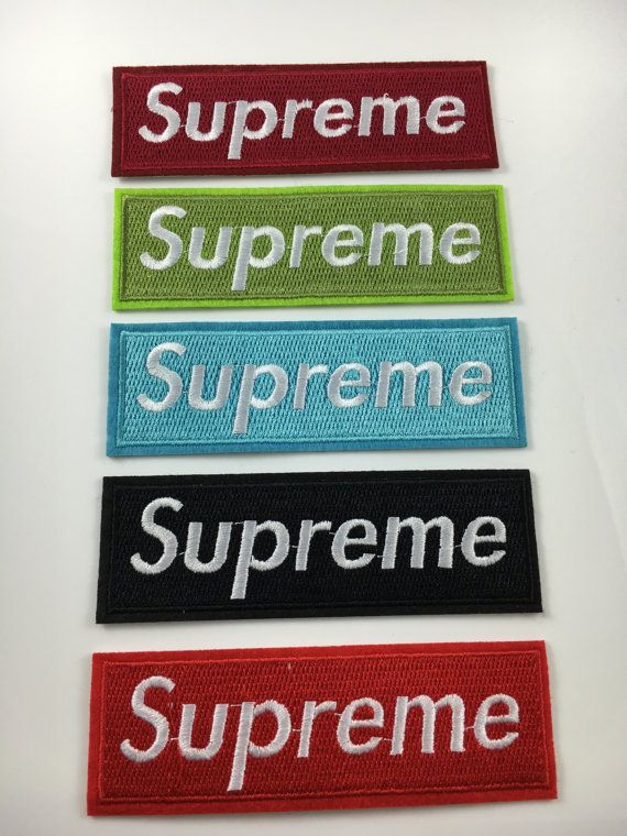 6ff070eb23f4c Brand New Supreme Clothing- Iron on Embroidered Patch