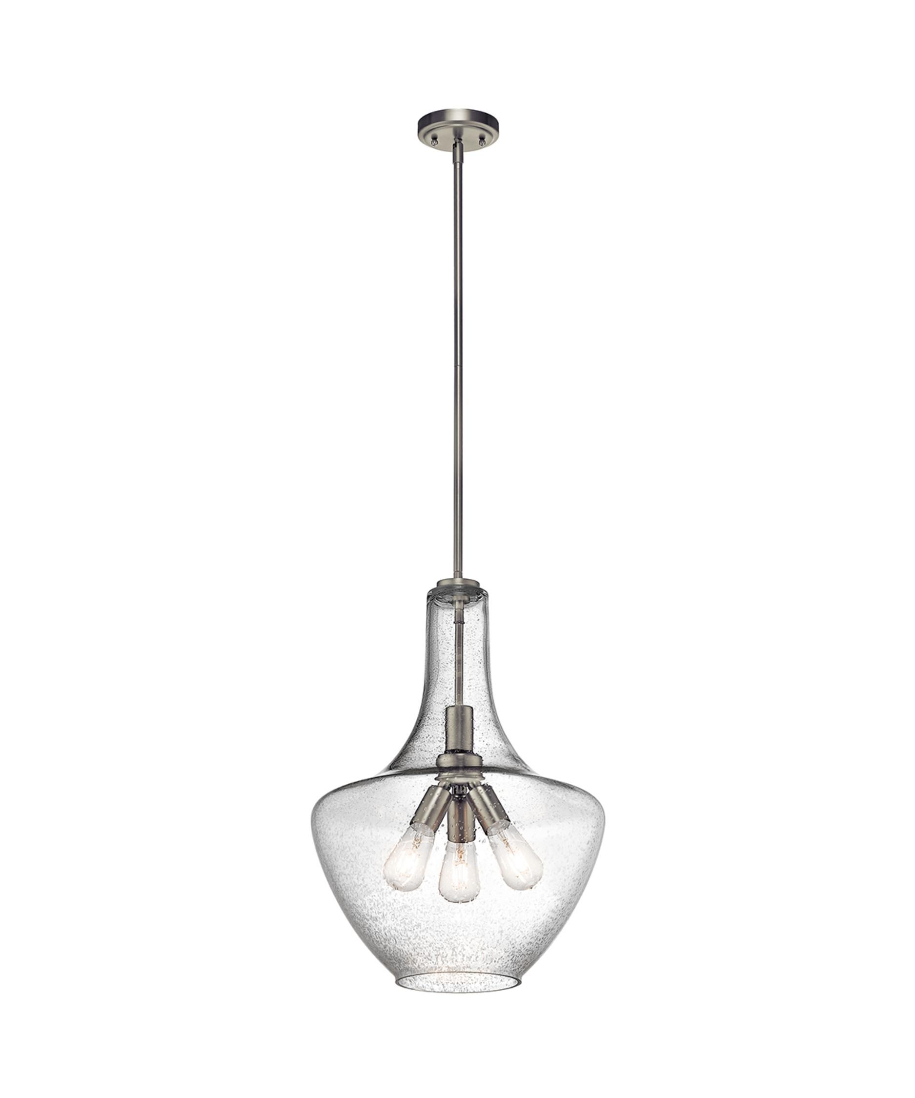 Everly 16 Inch Large Pendant By Kichler Lighting In 2020 Brushed