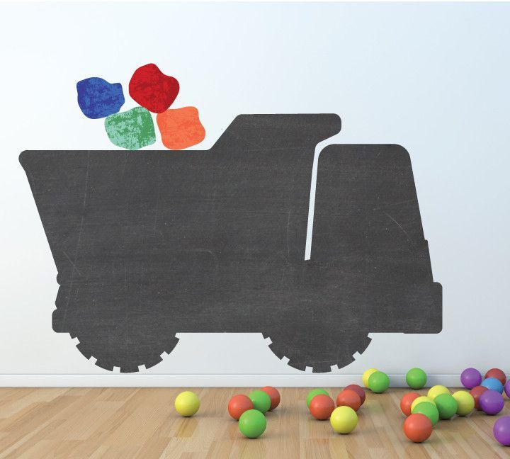 Chalkboard Dump Truck Wall Decal Large - Eco Friendly Chalkboard Wall Decal | Products | Pinterest | Products  sc 1 st  Pinterest & Chalkboard Dump Truck Wall Decal Large - Eco Friendly Chalkboard ...