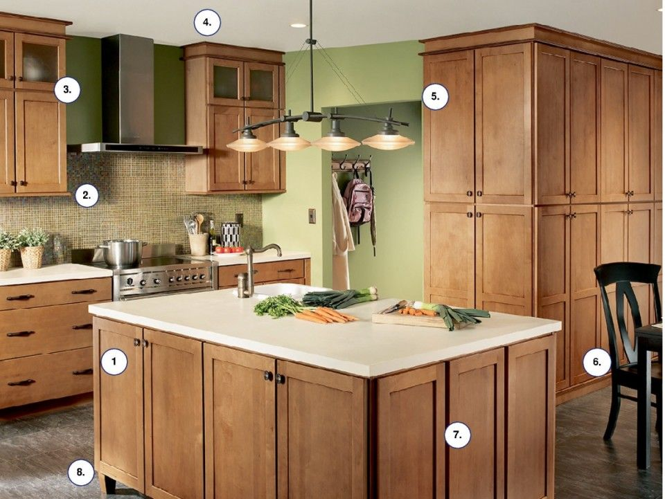 Waypoint contemporary kitchen in style 630S Maple Mocha ... on Best Granite Color For Maple Cabinets  id=29428