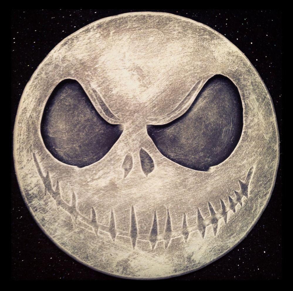 Jack Skellington Skull Plastic Mold Plaster Concrete Nightmare ...