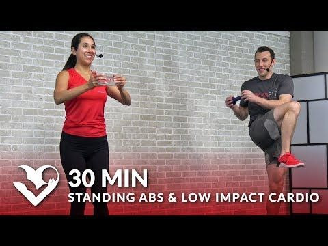 30 min standing abs  low impact cardio workout at home