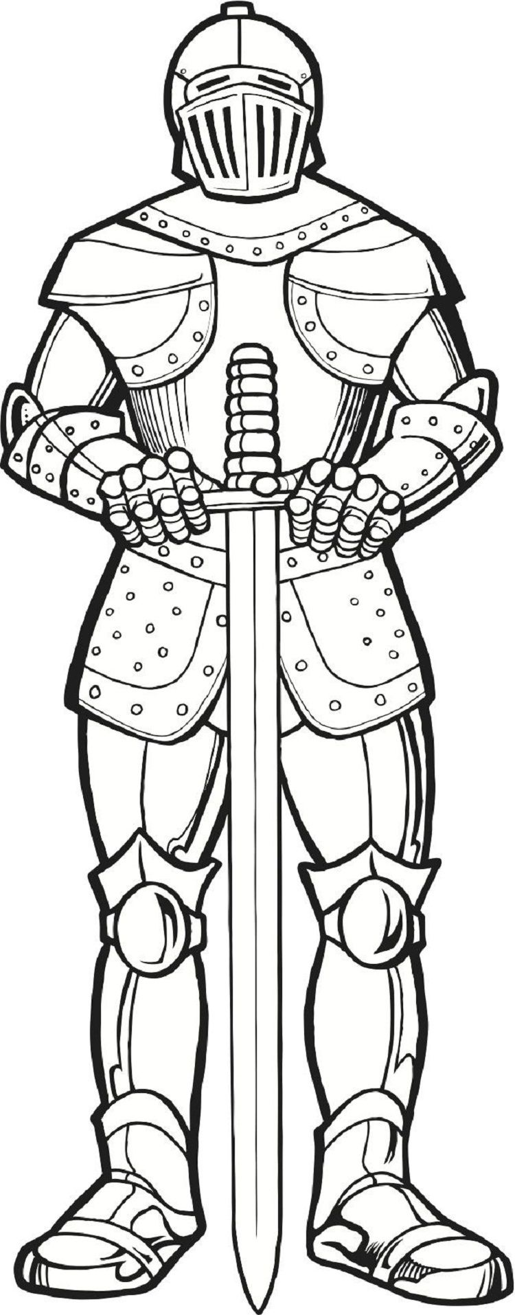 Medieval Times Knights Coloring Pages Armor Of God Coloring