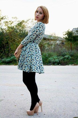 ♥new Zara TRF Floral Print FLOATY Tea Party Dress Size s M L 8 10 12 14 RRP €30♥ | eBay