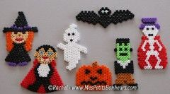 modeles personnages halloween perles à repasser pour mobile