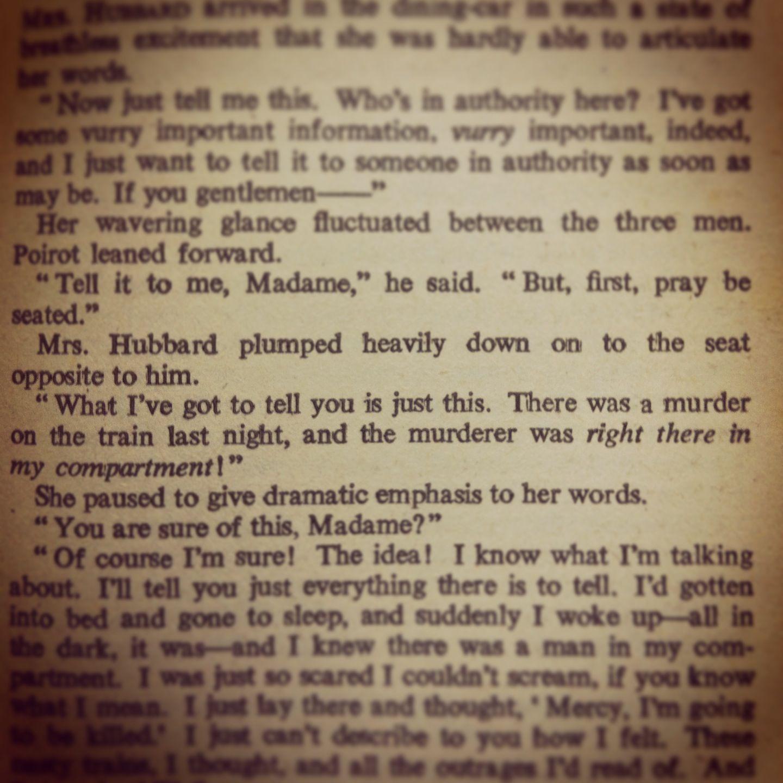 Wonderful description of a plump woman sitting down. Agatha Christie was a literary genius.