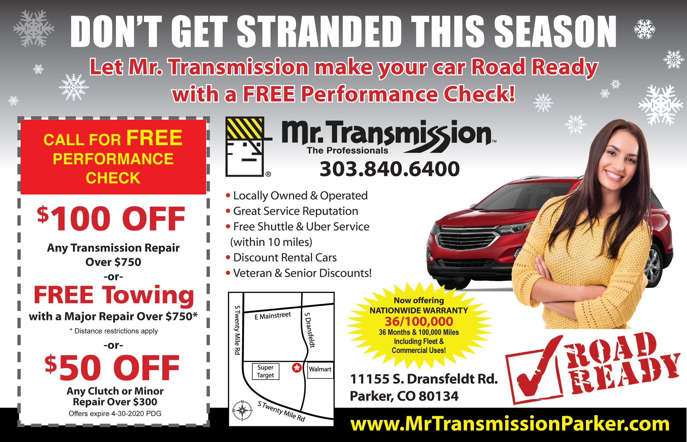 Don T Get Stranded This Winter Check Out Our Coupons Here Https Mrtransmissionparker Com Coupons Transmission Repair Car Rental Transmission