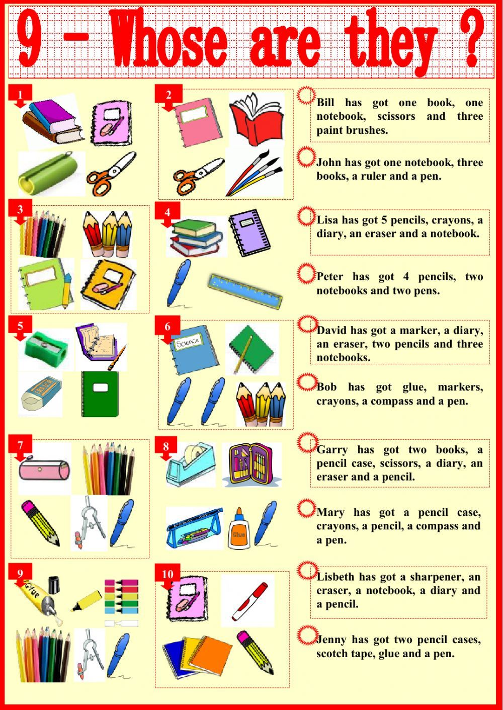 Classroom objects interactive and downloadable worksheet