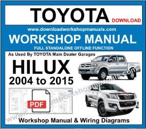 Toyota Hilux 2004 To 2015 Workshop Manual And Wiring Diagrams Toyota Hilux Repair Manuals Toyota