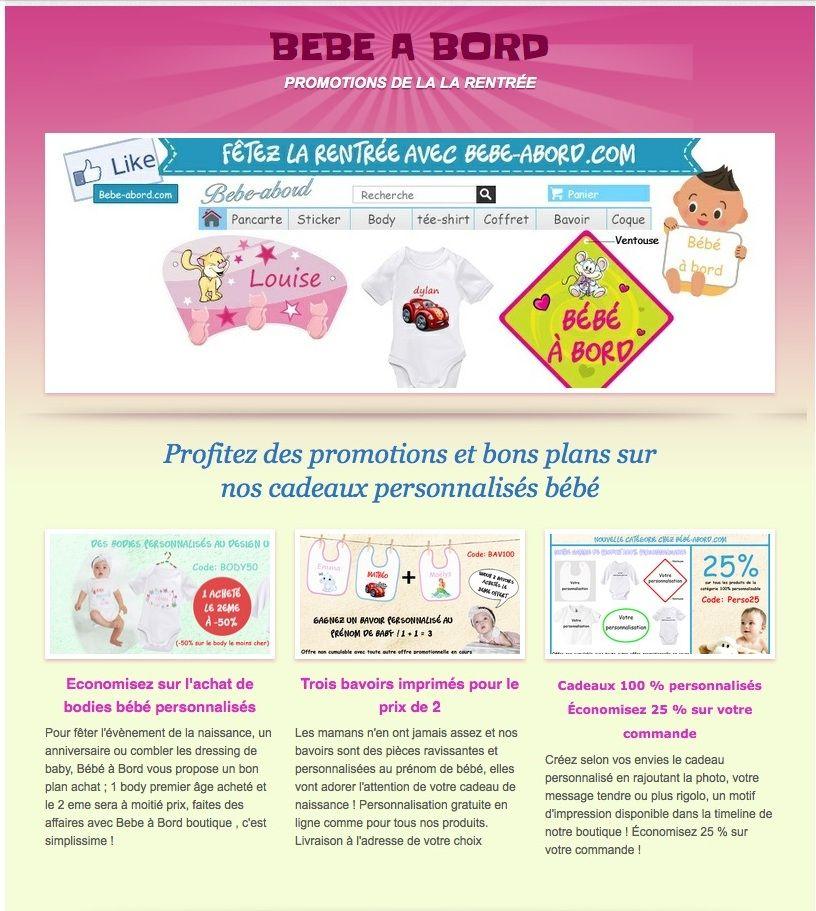 bcb52b881a15c Épinglé par Cadeau personnalisé bébés   enfants sur Promotions vêtements bébés  personnalisés