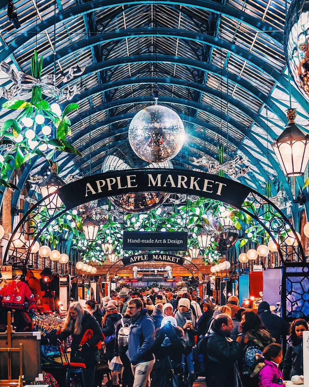Covent Garden Market all Christmassy. London London