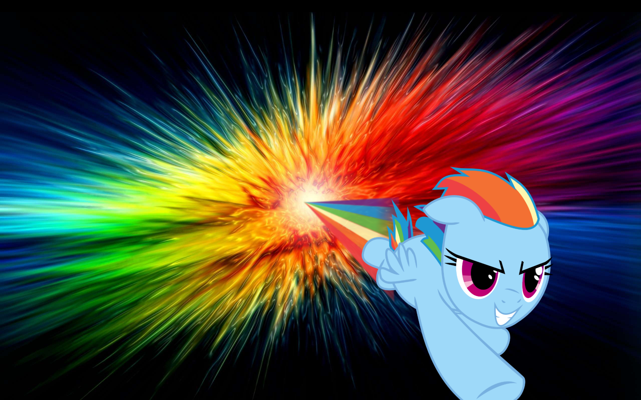 Rainbow Dash Wallpaper Performing Sonic Rainboom Through Rainbow