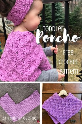 Starburst Crochet Toddler Poncho #babyponcho