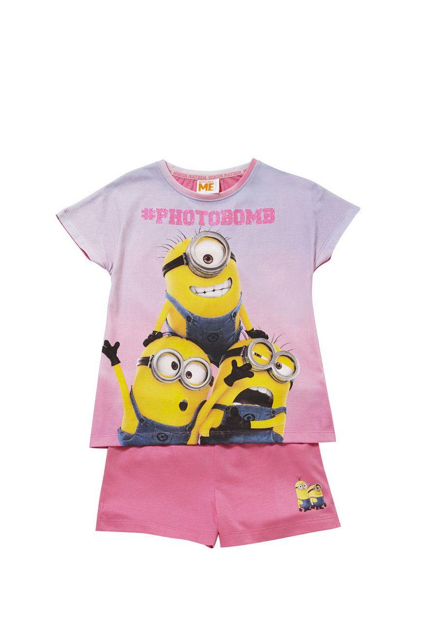 Clothing at Tesco | Universal Studios Minions #photobomb Shorts Pyjamas > nightwear > Nightwear & Slippers > Kids