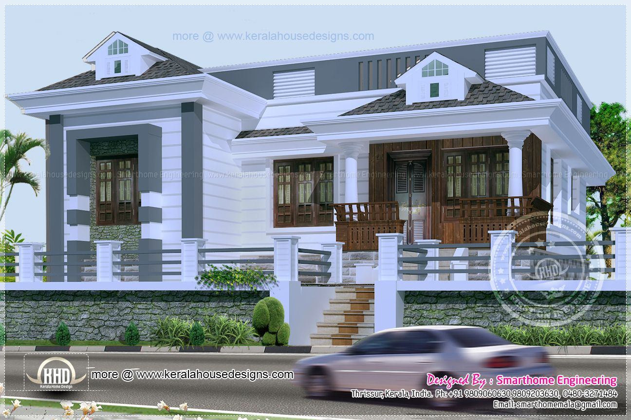 Wonderful 3 Bedroom Single Storey Budget House Part - 2: House · Kerala Style Single Story ...