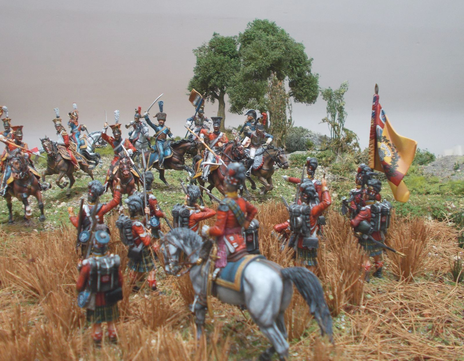 French cavalry vs. 92nd (Gordons) Highlanders