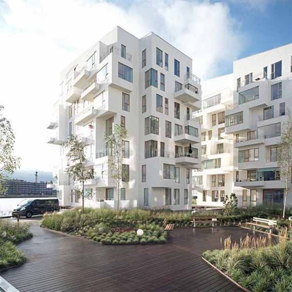 modern apartment building. Modern Architectural Buildings In Denmark Image  Architecture