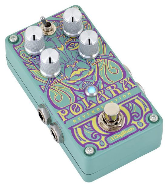 Digitech Polara - Thomann www.thomann.de #design #beautiful #pedal #reverb #effect #guitar #guitarist #colourful #pedals #sound
