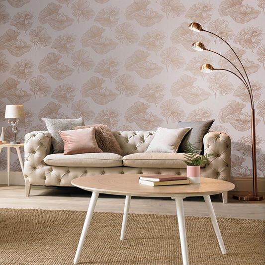 Lotus Blush Wallpaper Pink Wallpaper Graham & Brown