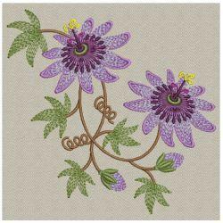Passion Flower Machine Embroidery Design Flower Machine