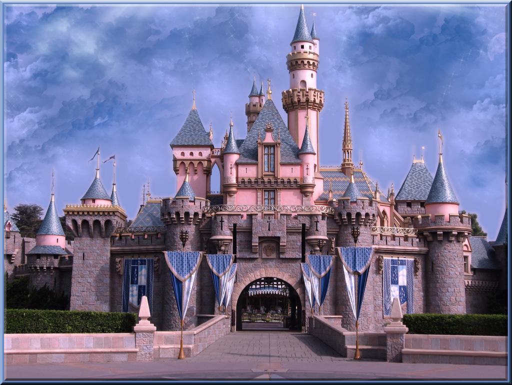 Disneyland Castle Hd Wallpapers Wallpaperzall Castle Backdrop Photography Backdrops Sleeping Beauty Castle