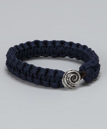 Take a look at this Navy & Sterling Swirl Rescue Bracelet by Rescue Bands on #zulily today!