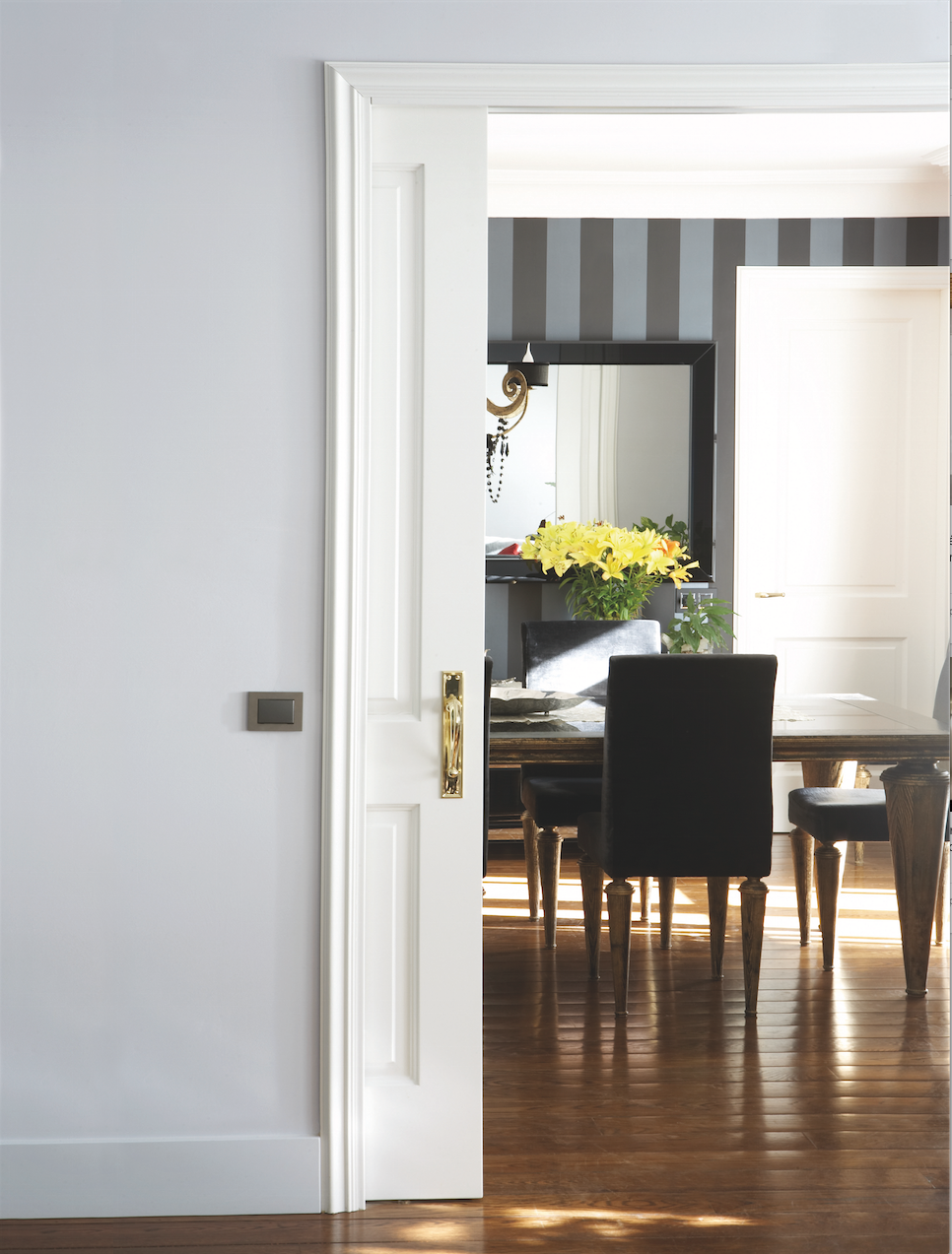 Use The Eclisse Pocket Door System With Paneled Doors For A Classic