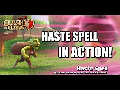 Haste Spell In Action - How it affects different troops - Clash of Clans...
