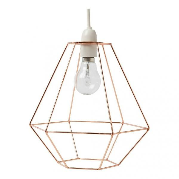 This diamond-shaped, copper-coloured lampshade is stylish and very practical. A must-have for all copper lovers. #bersamastore