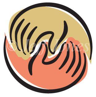 yin yang symbol health yin yang hands in unity stock illustration rh pinterest com Colorful Yin Yang Vector Wings