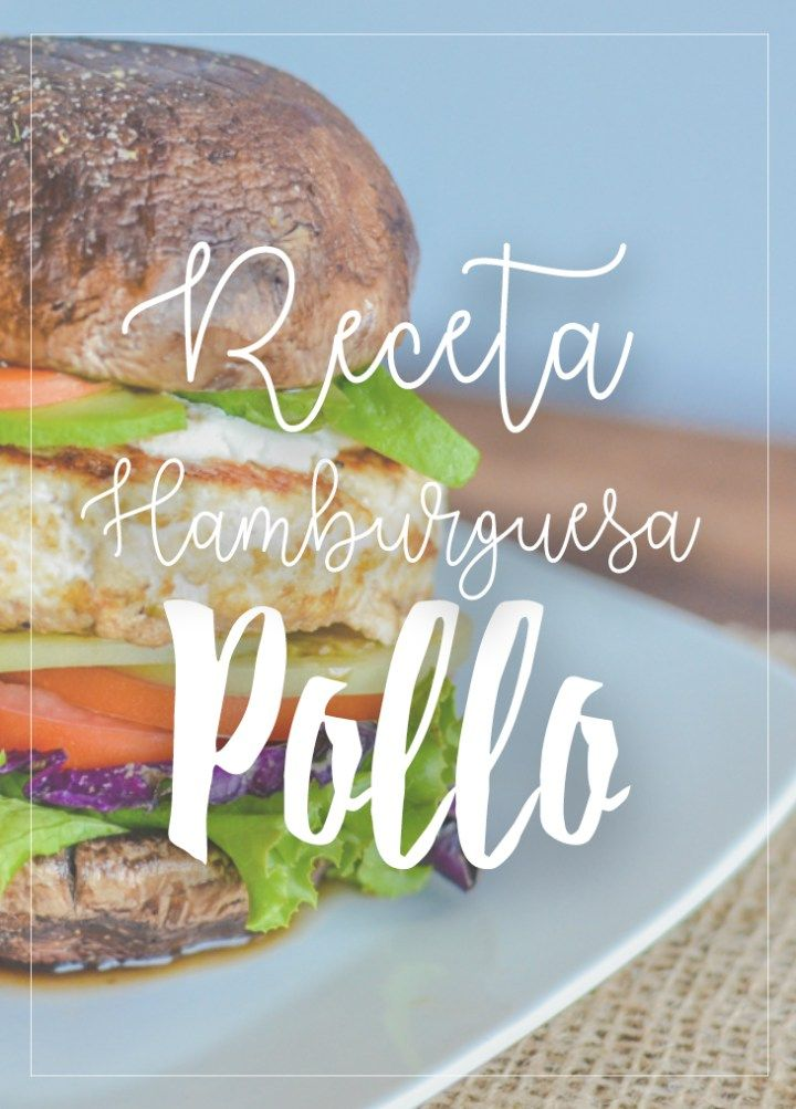 receta hamburguesa de pollo fit