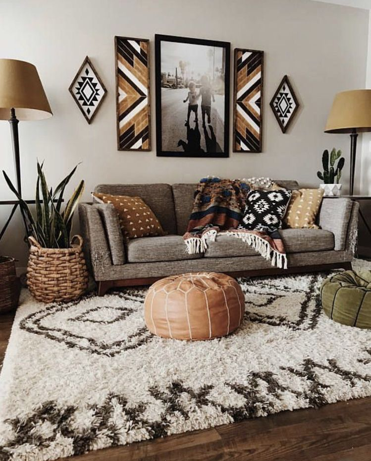 Pin By Callie Graca On H O M E I N S P O Bohemian Living Room Decor Living Room Scandinavian Rustic Living Room