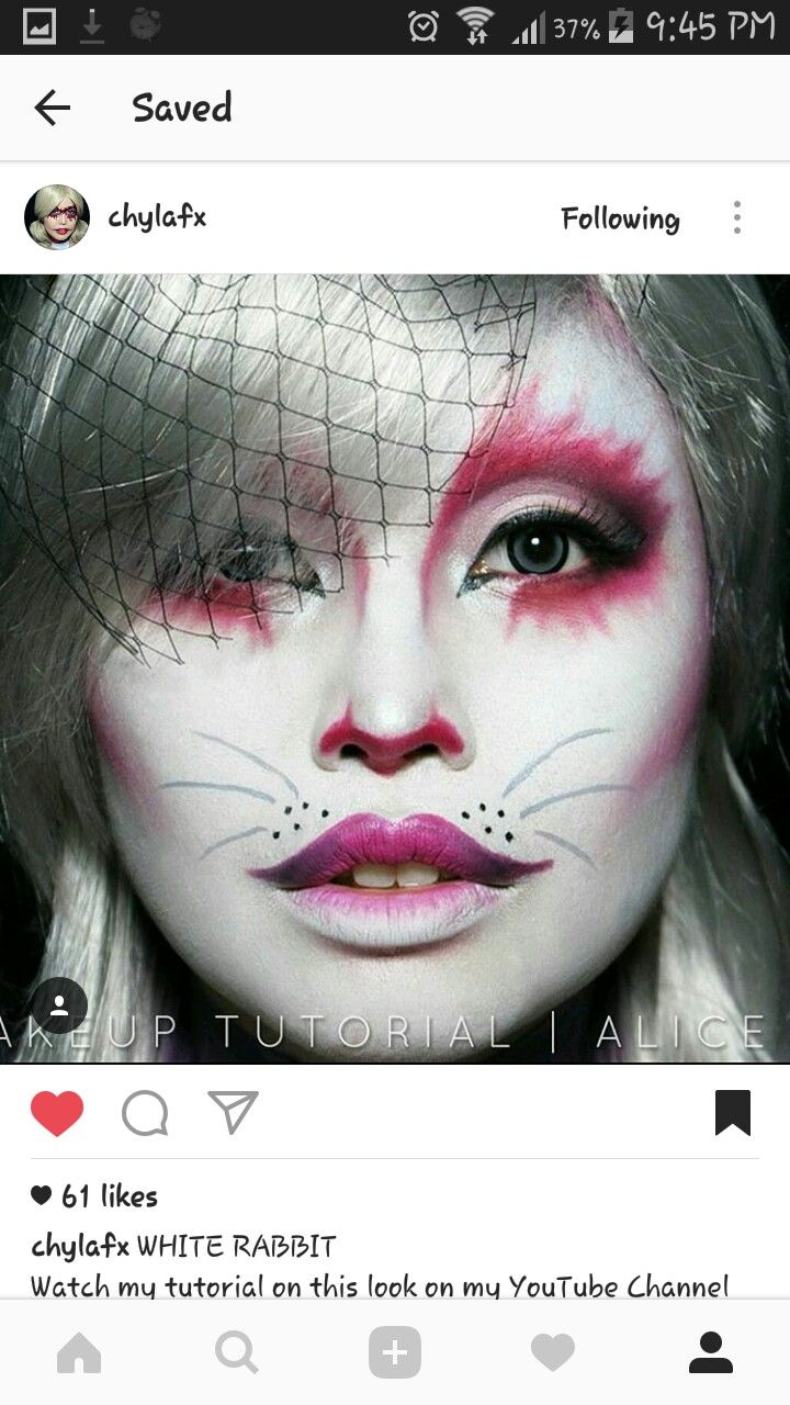 597994c4dd6 Pin by auburrito on Fashion: Halloween in 2019 | Bunny makeup, White ...