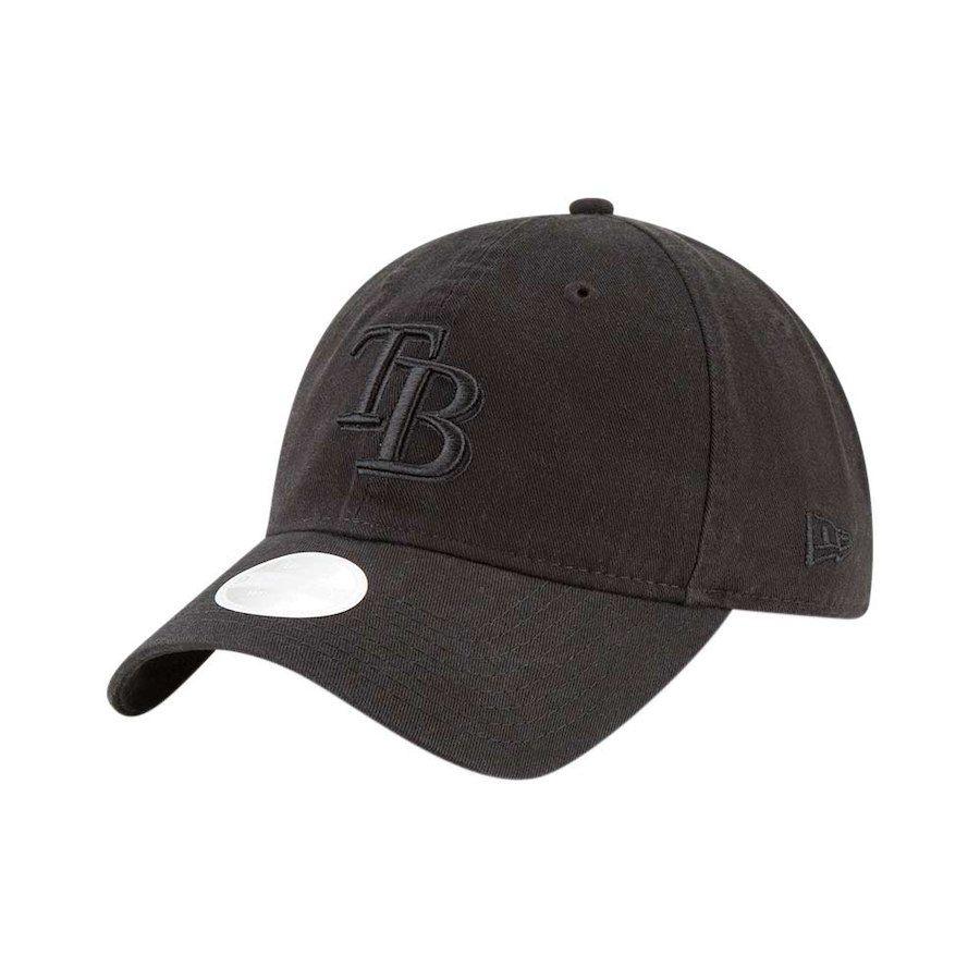 info for 0c914 452bb Women s Tampa Bay Rays New Era Black 9TWENTY Core Classic Twill Adjustable  Hat,  21.99