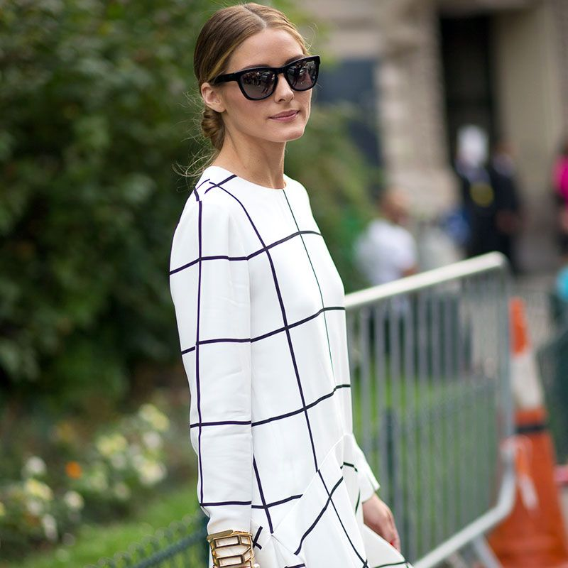 Olivia Palermo in Chloé, Westward Leaning sunglasses by Diego Suko